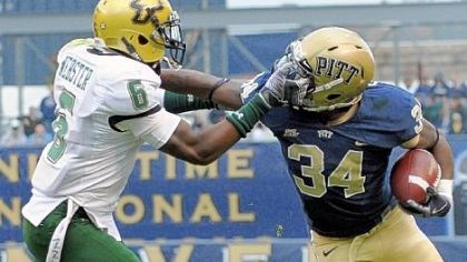 Facemask Pitt running back Ray Graham has only fumbled once this season.