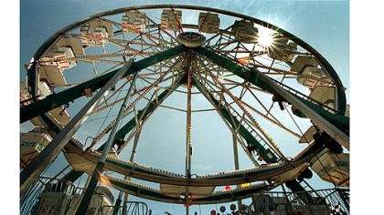 Ferris wheels at the fair The ferris wheel at the Allegheny County Fair.