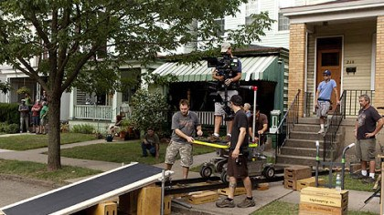 "Filming in Friendship ""One for the Money"" crew members set up a shot near the set of the Plum house on South Pacific Avenue in Friendship. The movie stars Katherine Heigl and Debbie Reynolds, Jason O'Mara, Daniel Sunjata and Sherri Shepherd."