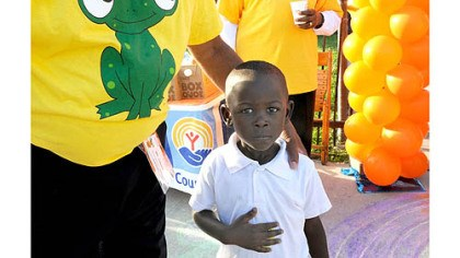 first day of kindergarten at weil Four-year-old Pithas Pierre is greeted for his first day of kindergarten at Weil Elementary in the Hill District today.