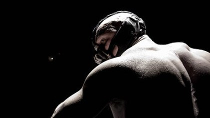 "First look: Bane The official website of ""The Dark Knight Rises"" released this first image of Tom Hardy as Bane."
