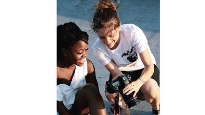 "'First Position' ""First Position"" director Bess Kargman, right, with dancer Michaela DePrince, a war orphan from Sierra Leone."