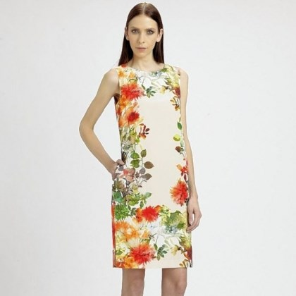 Floral silk dress St. John floral silk dress, $895 at saks.com.