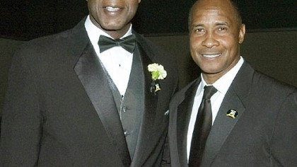 Former Steelers Bennie Cunningham and Lynn Swann Former Steelers Bennie Cunningham and Lynn Swann at the Steelers 75th Season Gala at the David L. Lawrence Convention Center.