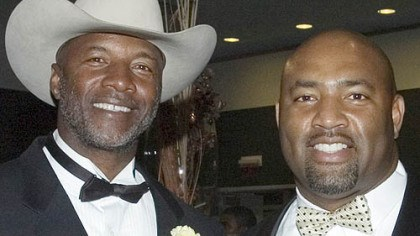 Former Steelers Mel Blount and Dermontti Dawson Former Steelers Mel Blount and Dermontti Dawson at the Steelers 75th Season Gala at the David L. Lawrence Convention Center.