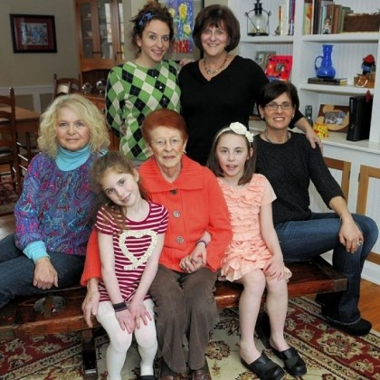 Four generations of the Marcus family Four generations of the Marcus family: In the front row are Marsha Heller; Jennifer Adamo, 6; Shirley Stein, Lilly Adamo, 8, and Debby Adamo. Standing are Rachel Dragotta and Abby Savitz.