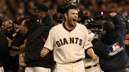 "Freddy Sanchez Former Pirates all-star Freddy Sanchez on the Giants' postseason run: ""It's been crazy out here, just so much fun."""
