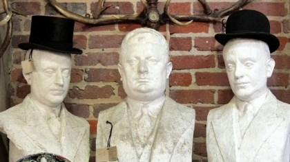 French haberdashery busts A set of three French haberdashery busts of heavy duty plaster from Added Oomph!