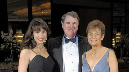 Friendship Ball Lauren Usher with her parents Tom and Sandy Usher.