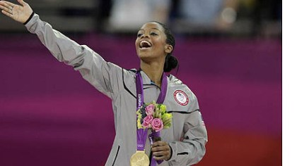 gabby douglas gold medal U.S. gymnast Gabrielle Douglas acknowledges the crowd after receiving her gold medal today.