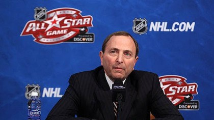 "Gary Bettman NHL commissioner Gary Bettman: ""As with all hockey fans, I'm unhappy about the fact that we have players who are not at the All-Star Game because of concussions."""