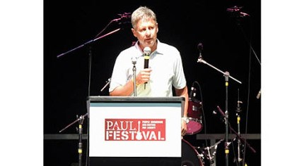 Gary Johnson Libertarian presidential candidate and former governor of New Mexico Gary Johnson addresses a crowd gathered at P.A.U.L. Fest at the Florida State Fairgrounds in Tampa, Fla.
