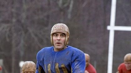 "George Clooney in ""Leatherheads"" George Clooney as Bulldogs team captain Dodge Connolly in ""Leatherheads."""