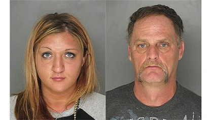 george mugs Rachel George (left) and her father Christopher George face multiple charges after an incident at PNC Park on Saturday.
