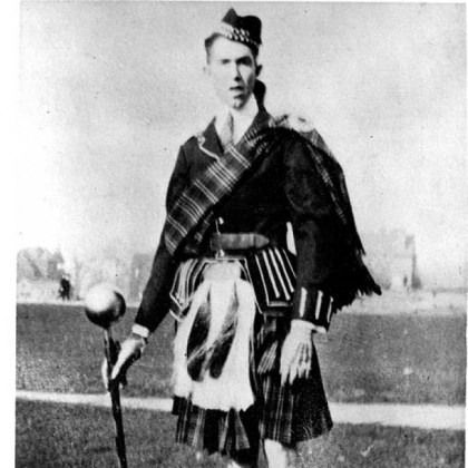 George George Trent, grandfather of PG food writer Gretchen McKay, was the first drum major at Carnegie Institute of Technology (now Carnegie Mellon University) to wear a kilt. The photo was taken circa 1916.