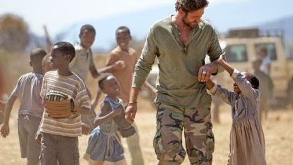 "Gerard Butler as Sam Childers In ""Machine Gun Preacher,"" Gerard Butler plays Sam Childers, the impassioned founder of Angels of East Africa rescue organization, who brings hope where there is none to hundreds of children."