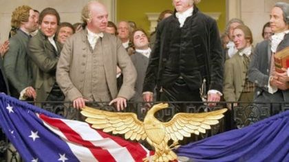 "Giamatti, Morse in 'John Adams' In ""John Adams,"" Paul Giamatti, left center, portrays John Adams and David Morse is George Washington."