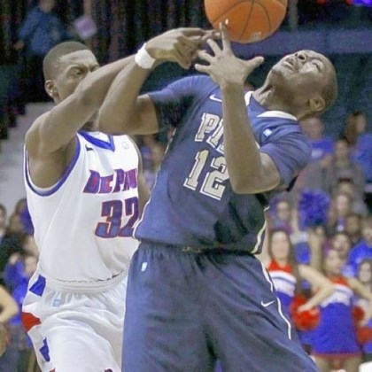 GibbsMcKinney DePaul guard Charles McKinney battles Pitt guard Ashton Gibbs for a loose ball in January 2012 in Rosemont, Ill. DePaul upset the Panthers, 84-81, after Pitt blew a 10-point second-half lead.