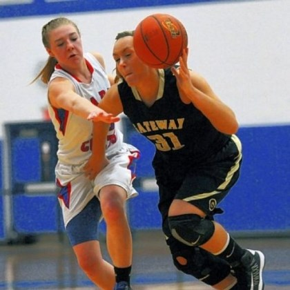girls Chartiers Valley's Karley O'Keefe, left, guards Gateway's Katey Wilson in a Class AAAA second-round game Tuesday. Chartiers Valley rolled to a 53-42 win, setting up a WPIAL semifinal rematch vs. Mt. Lebanon.