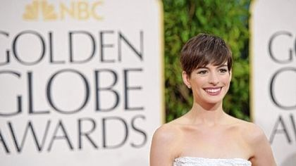 "Globes winner Anne Hathaway Anne Hathaway won a Golden Globe for best supporting actress for ""Les Miserables,"" which also won best musical or comedy."