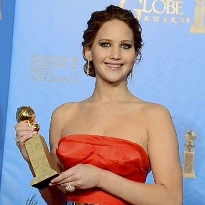 "Globes winner Jennifer Lawrence Jennifer Lawrence took home the Golden Globe for best performance by an actress in a motion picture comedy or musical for ""Silver Linings Playbook."""