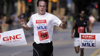 GNC Holdings in the top five GNC Holdings' profit surge helped place it among to top five companies based on growth. As a maker of vitamins and supplements, it sponsors the GNC Live Well Liberty Mile race; last year's event started in the in the Strip District and ended Downtown, with Eric Rauterkus of the South Side winning the recreational mile.