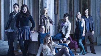 Gossip Girl Pictured: (back row) Penn Badgley as Dan, Kelly Rutherford as Lily, Ed Westwick as Chuck, Taylor Momsen as Jenny, Matthew Settle as Rufus. (middle row) Leighton Meester as Blair, Chace Crawford as Nate. (front row) Blake Lively as Serena.