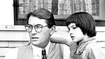 "Gregory Peck and Mary Badham Gregory Peck as Atticus Finch and Mary Badham as his daughter, Scout, in ""To Kill a Mockingbird."" Peck won an Academy Award for his portrayal of the lawyer."