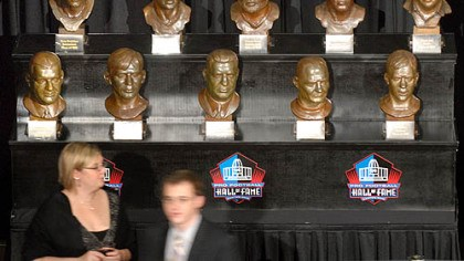 Hall of Fame display The busts of former Steelers now at the Hall of Fame were on display at the Steelers 75th Season Gala at the David L. Lawrence Convention Center.