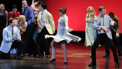 "Hampton ""Dance at the Gym"" from ""West Side Story"" won best musical in budget level II for Hampton High School at the Gene Kelly Awards."