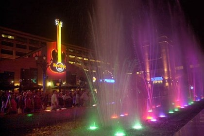 Hard Rock Cafe The Hard Rock Cafe in Station Square will be host tonight to four bands competing for a $1,000 and radio exposure.