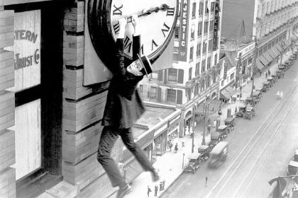 "Harold Lloyd Harold Lloyd stars in ""Safety Last!,"" a 1923 silent film that will be screened with live musical accompaniment Sept. 14 at Regent Square Theater."