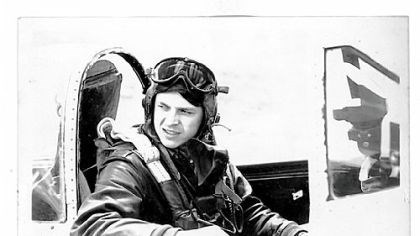 Herman Borza Herman Borza as P-47 pilot.