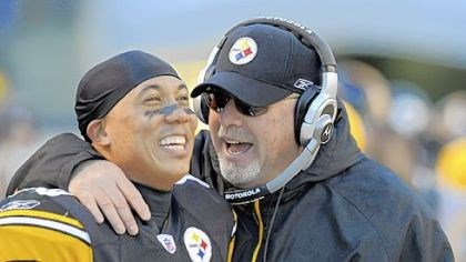 Hines Ward and Bruce Arians Hines Ward and Bruce Arians
