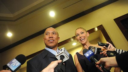 "Hines Ward and Kym Johnson Hines Ward and his ""Dancing with the Stars"" are interviewd at the 37th annual Art Rooney Awards at the Westin Convention Center Hotel, Downtown, on Thursday, April 7."
