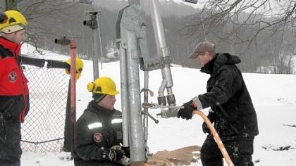Holiday Valley Crews prepare to make snow at Holiday Valley in western New York. The resort demolished its Clubhouse Chalet in March, and the new $12 million Holiday Valley Lodge is expected to open Dec. 15.