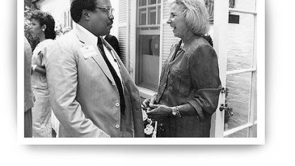 Holsendolph with Ethel Kennedy. Holsendolph with Ethel Kennedy.