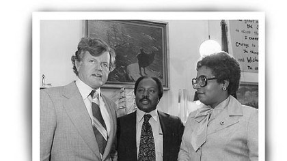 Holsendolph with Sen. Edward M. Kennedy and Barbara Reynolds. Holsendolph with Sen. Edward M. Kennedy and Barbara Reynolds.
