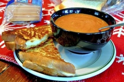 Homemade Tomato Soup and Grilled Cheese Homemade Tomato Soup and Grilled Cheese.