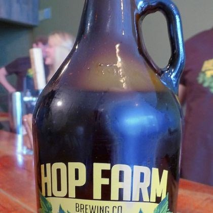 Hop Farm Brewing Co. Saison A growler of Hop Farm Brewing Co. Saison, which sells for $15 at the new Lawrenceville brewery -- $4 for the glass jug and $11 for the half-gallon of beer.