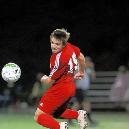 hshigh2 Cole Pappas of Avonworth heads the ball during Seton-LaSalle''s 1-0 defeat of Avonworth in overtime at home in Dormont on Tuesday.