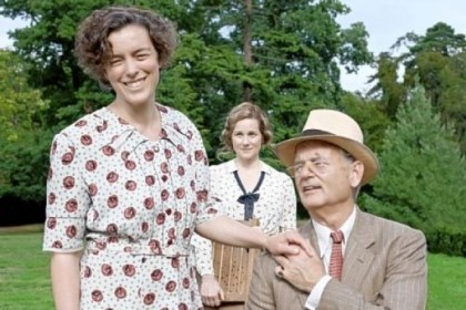 """Hyde Park"" cast Olivia Williams as Eleanor, Laura Linney as Daisy and Bill Murray as FDR in ""Hyde Park on Hudson."""