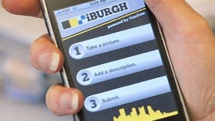 iBurgh iPhone showing the new iBurgh Pittsburgh app.