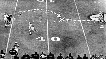 Immaculate Reception The Immaculate Reception as it ran in the Dec. 24, 1972, Pittsburgh Press. Jack Tatum and Frenchy Fuqua collide, the ball caroms back, and Franco Harris, far right, swoops in for history.