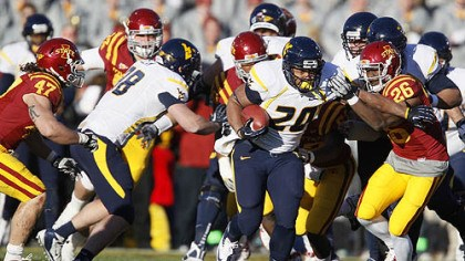 Iowa State defensive back Deon Broomfield Iowa State defensive back Deon Broomfield (26) chases down West Virginia running back Shawne Alston (20) during the first half of an NCAA college football game Friday, in Ames, Iowa.
