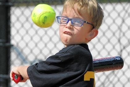 J.P. Altman Pirates J.P. Altman, 8, of Peters keeps an eye on the ball at the Miracle League game against the Phillies at Boyce Mayview Park in Upper St. Clair.