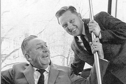 Jack Merhaut Former Westinghouse photographer Jack Merhaut, right, with Walt Disney in the late 1960s. Mr. Merhaut died Jan. 20.