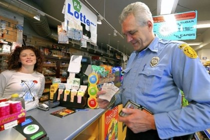 Jack Winterbottom Jack Winterbottom, a Pittsburgh paramedic with Rescue 2, buys his lottery tickets from cashier Antoinette Sciulli at Smithfield News, Downtown.