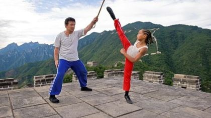 "Jackie Chan, Jaden Smith in ""Karate Kid"" With the Great Wall of China and the Wudang Mountains providing a backdrop, Jackie Chan as Mr. Han mentors Jaden Smith as Dre Parker in ""The Karate Kid."""