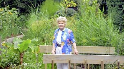 jacob Irene Jacob, shown here in 2003, co-founded the Rodef Shalom Biblical Garden with her husband, Walter, who was the rabbi at Rodef Shalom for decades.
